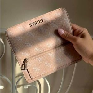 Guess Pink Canvas Wallet